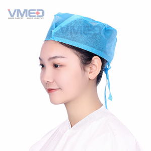 Disposable SPP Non-woven Blue Doctor Cap