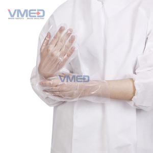 Disposable White CPE Gloves