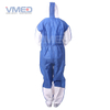 Disposable White Micro-porous Coverall With SMS Blue Back Panel