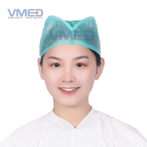 Disposable SPP Non-woven Green Doctor Cap