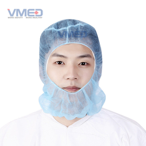 Blue Disposable Protective Non-woven Protective Hood