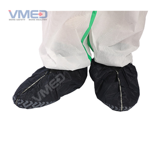 Disposable SPP Non-woven Full Elastic Shoe Cover With Printed Bottom
