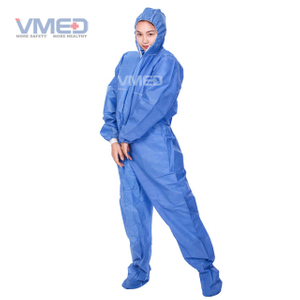 Disposable Blue SMS Coverall