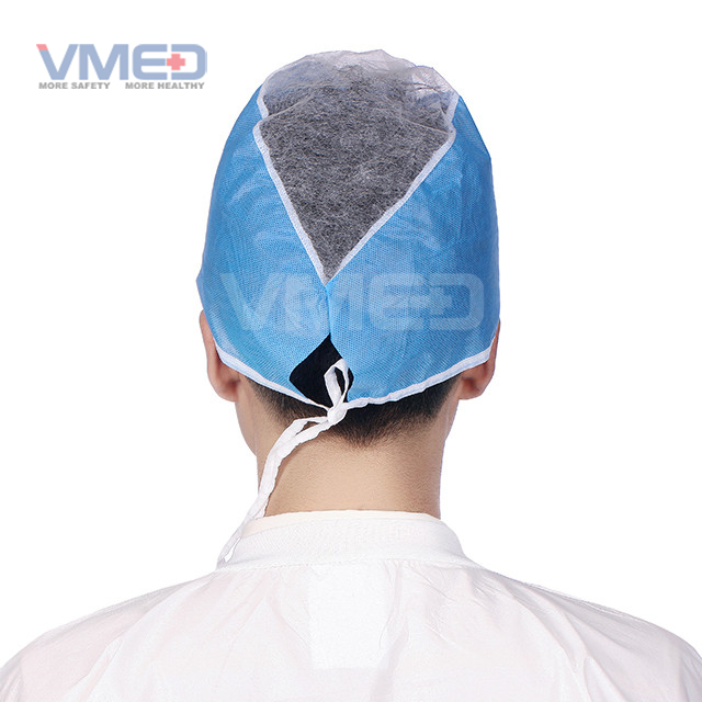 Disposable SMS+PP Doctor Cap With Ties