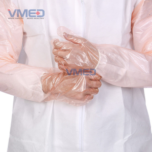 Disposable Pink PE Long Sleeve Gloves