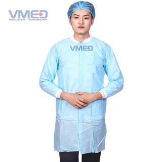 SMS Protective Lab Coat with Knitted Cuffs